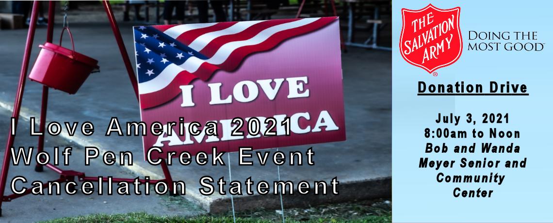 Event Cancellation Statement